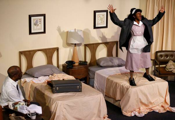 Tiana Kaye Johnson and Hassan El-Amin star in The Mountaintop, which continues through Nov. 15.