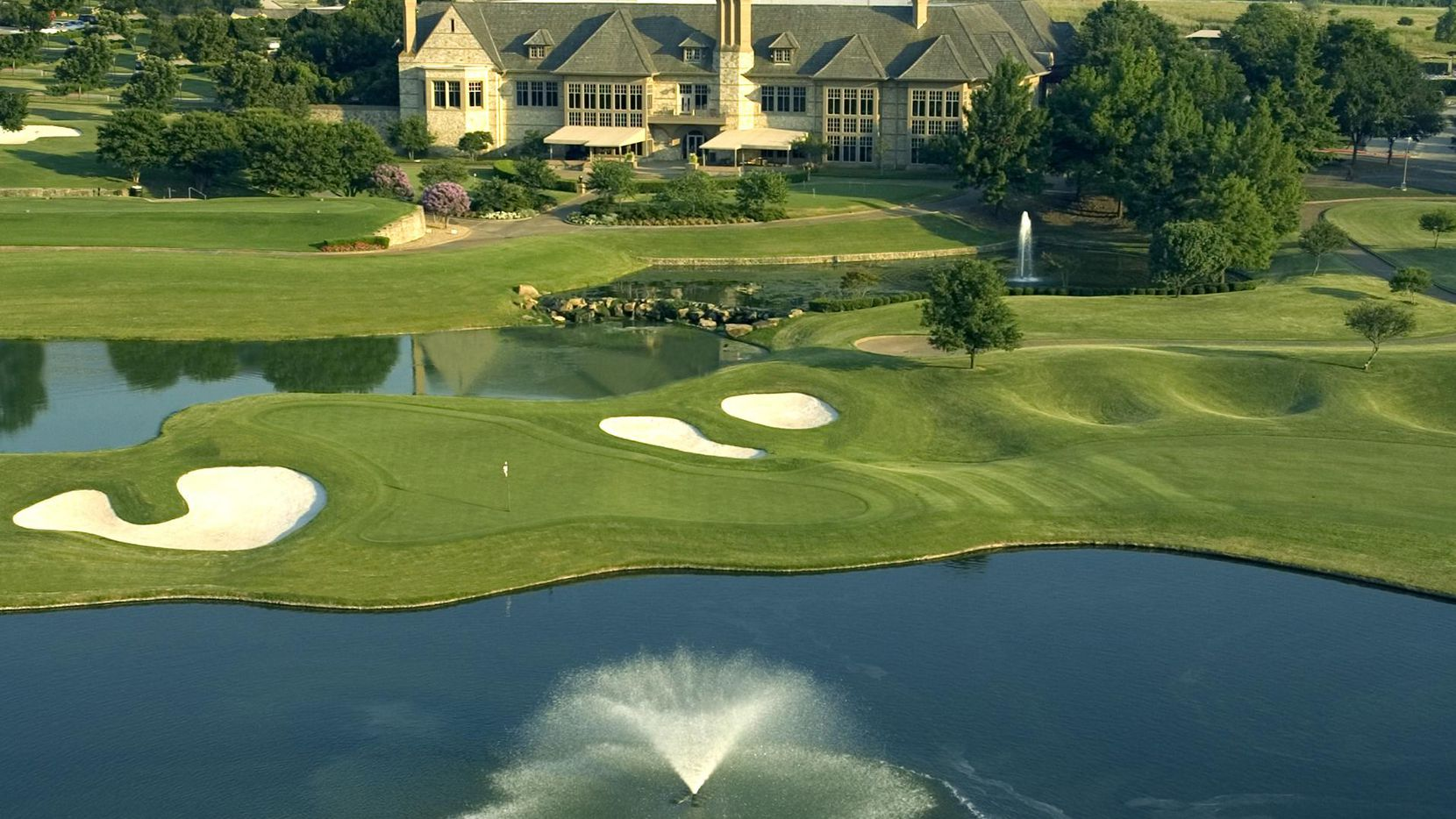The clubhouse at Stonebriar Country Club in Frisco.