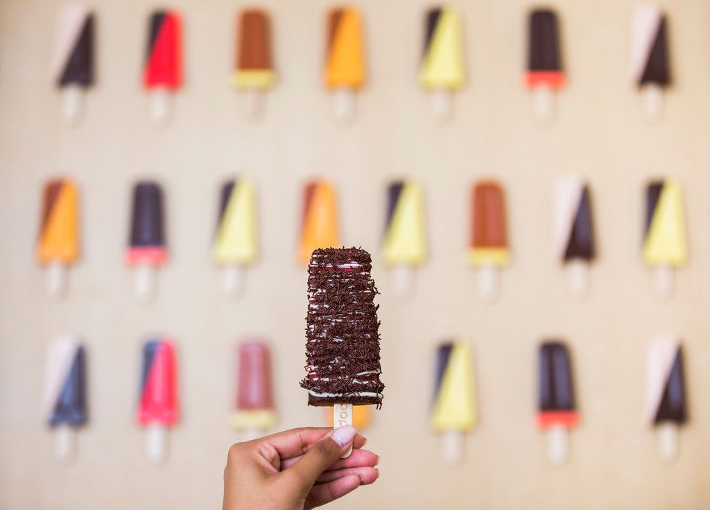 Pop it on: visitors are welcome to decorate their popsicles in any way.