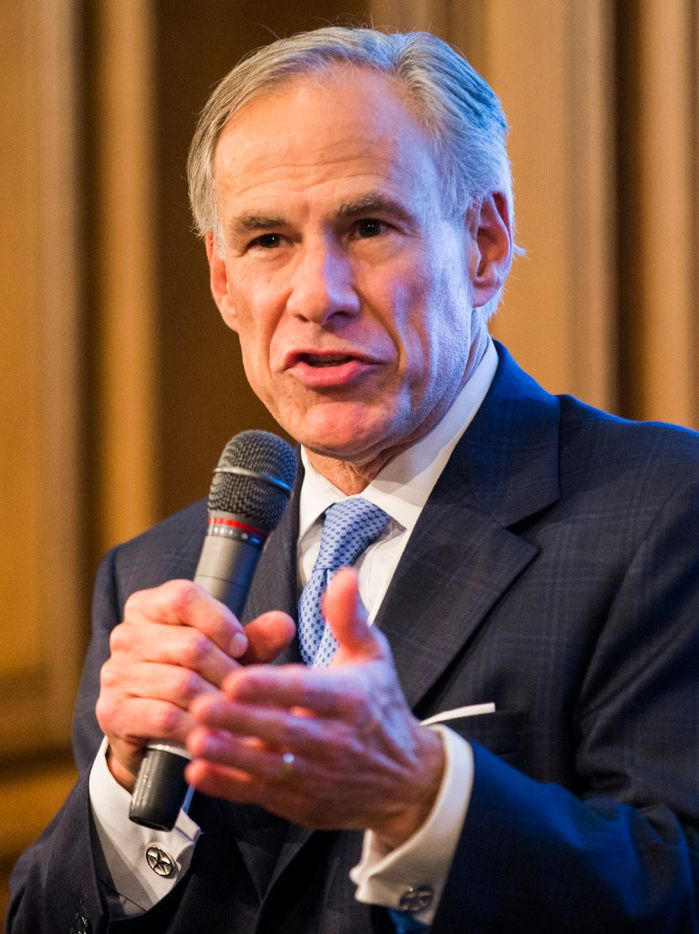 Texas Gov. Greg Abbott speaks at a Texas Public Policy Foundation policy orientation event moderated by Dr. Kevin Roberts, executive vice president of TPPF on Monday, July 17, 2017 at 901 Congress Ave. in Austin, Texas.