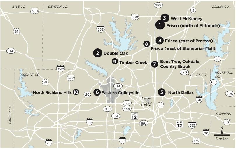 Top 10 safest neighborhoods in D-FW