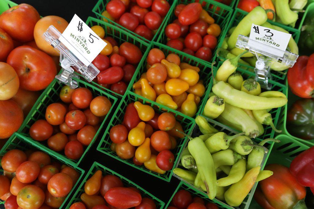 Fresh produce at the Frisco Fresh Market