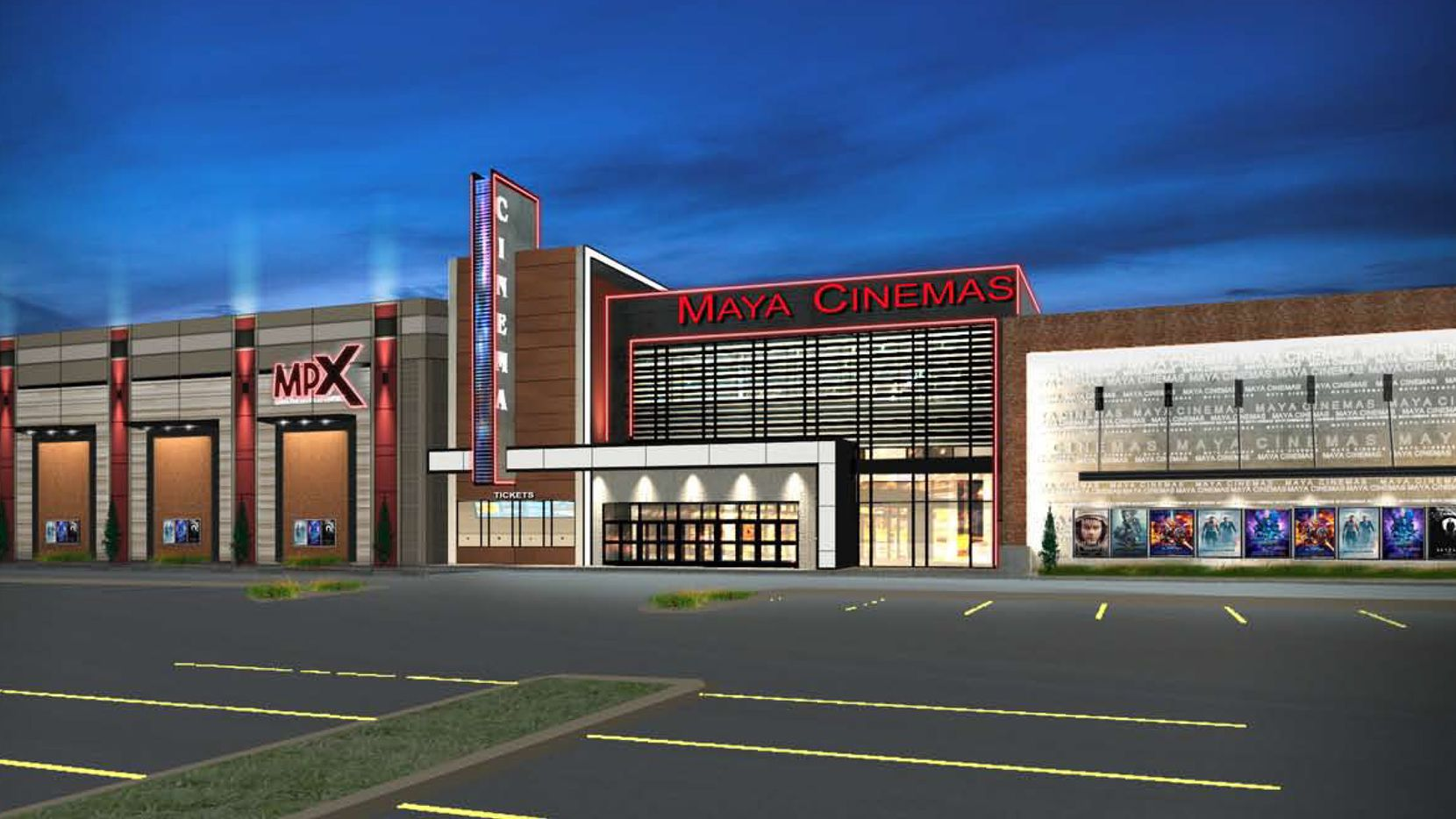 Rendering of proposed new movie theater at Wynnewood Village. Brixmor Property Group has been working with the city of Dallas to begin making improvements to the sprawling shopping center on 65 acres just west of I-35 along S. Zang Blvd. and Illinois Ave.