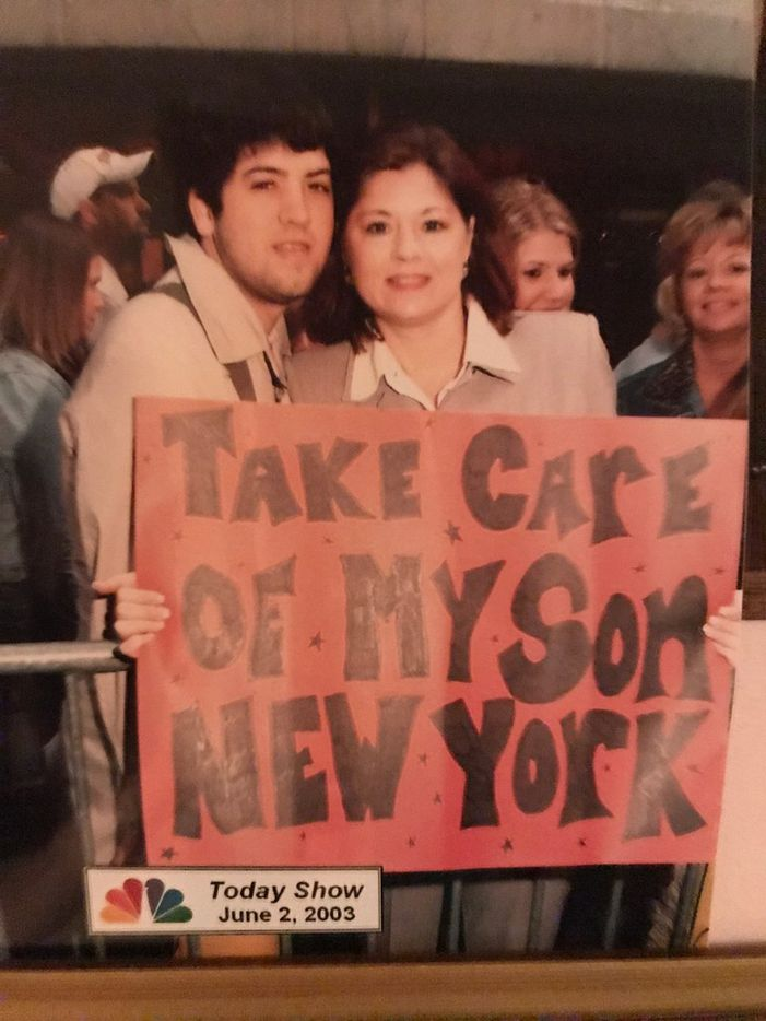 Brandon Maxwell and his mother, Pam Woolley, were on the Today Show as she was about to drop him off for his freshman year at  Marymount Manhattan College in 2003.