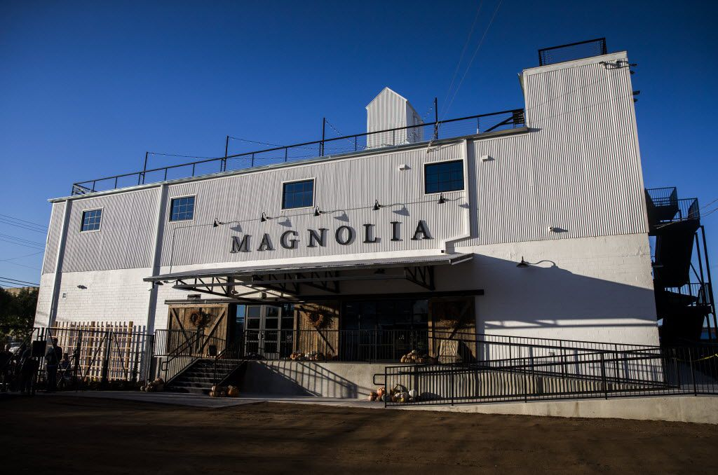 The exterior of the new location of Magnolia Market at the Silos, owned by Chip and Joanna Gaines, hosts of HGTV's Fixer Upper, on Thursday, October 29, 2015 at Magnolia Market at the Silos in Waco, Texas.   (Ashley Landis/The Dallas Morning News)  -- MANDATORY CREDIT, TV OUT, MAGS OUT, NO SALES, INTERNET USE BY AP MEMBERS ONLY