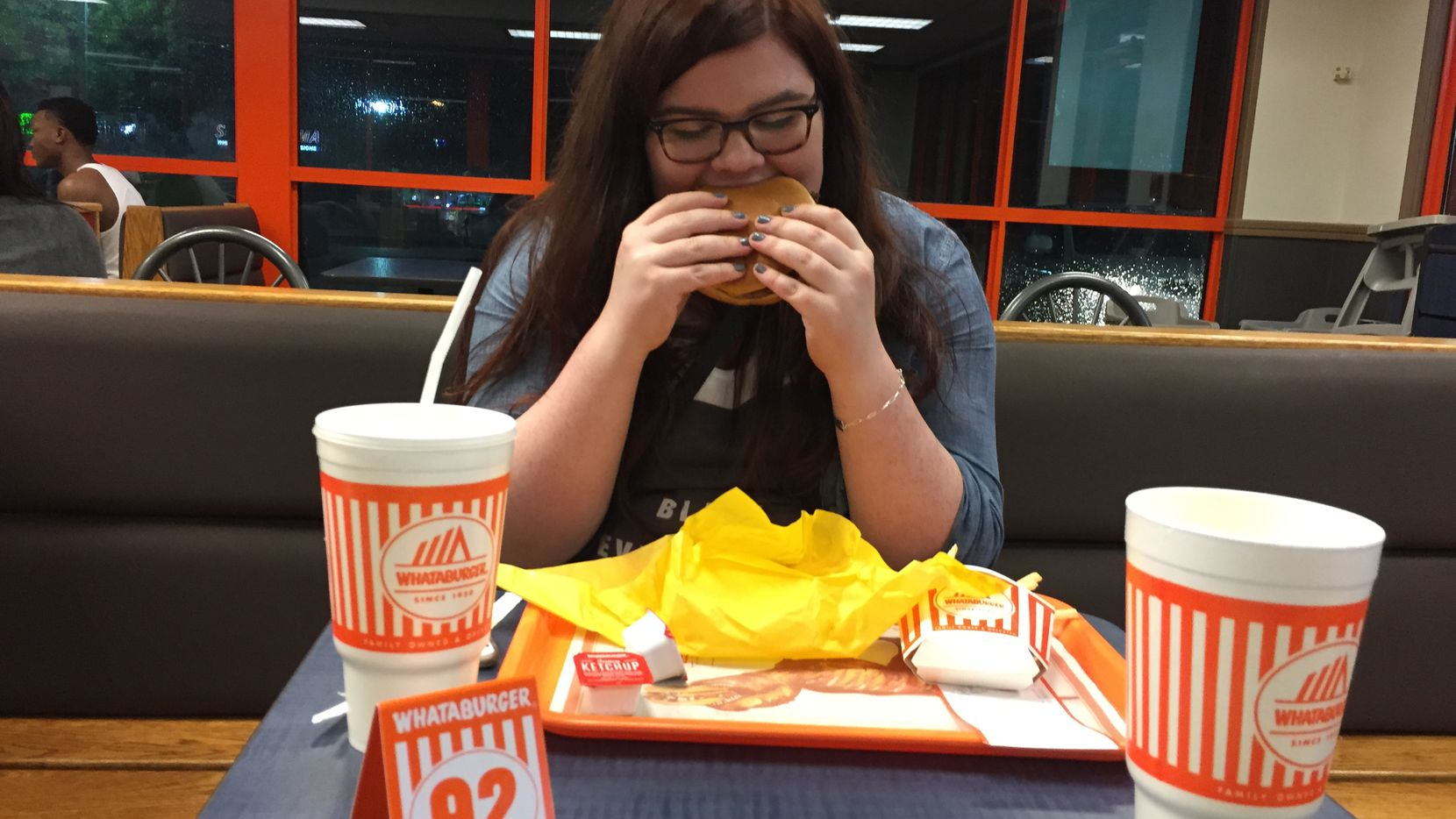 My first bite of Whataburger ever. Life changing? Not so sure about that, but it did the job of providing me peace at 3 a.m.