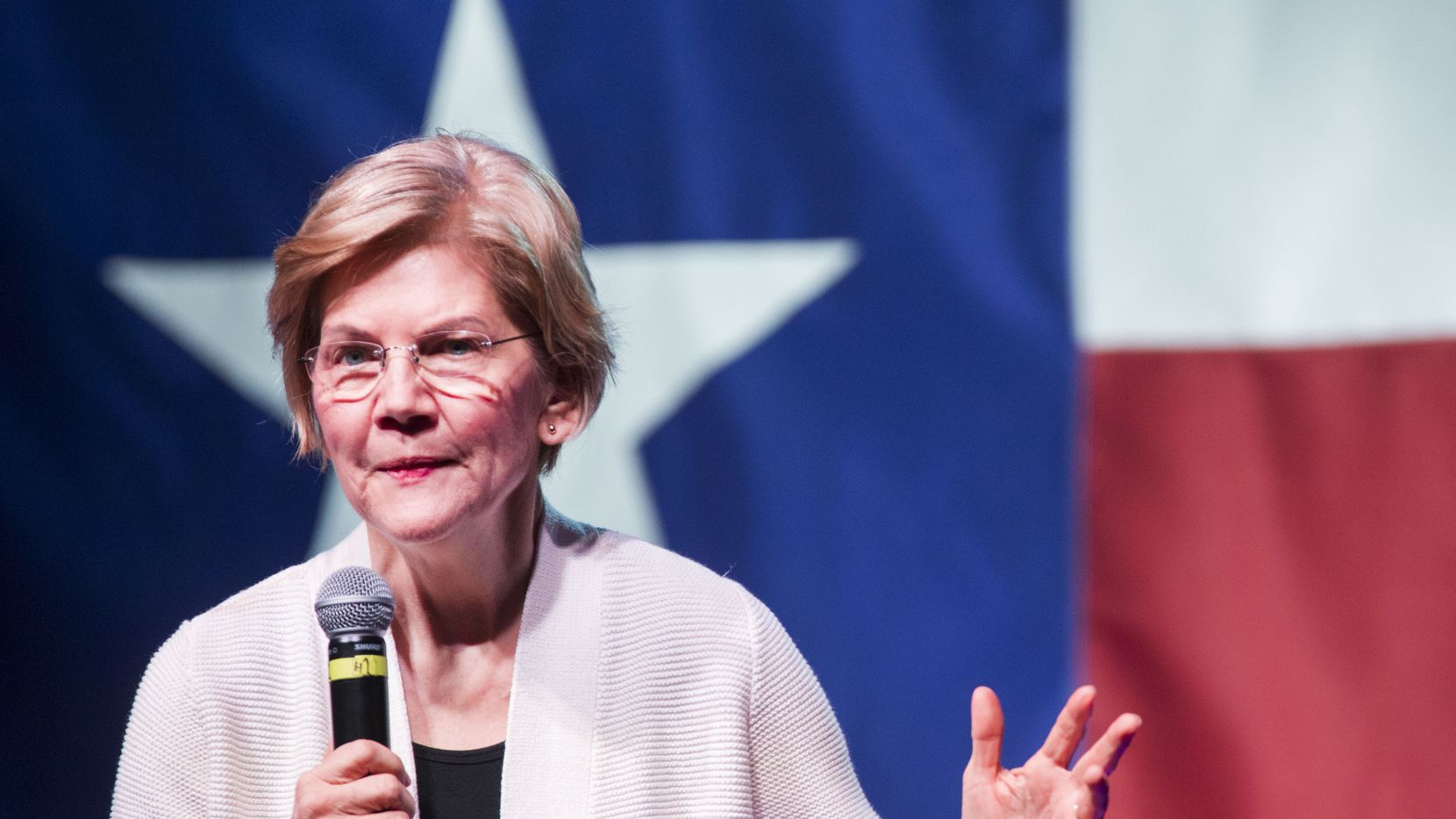 Sen. Elizabeth Warren (D-MA), one of several candidates running for the Democratic Party's primary nomination in the 2020 presidential election, spoke during a campaign stop at the Granada Theater in Dallas on Sunday, March 10, 2019. After speaking, Warren fielded questions from the audience and took pictures with attendees.