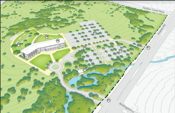 University of North Texas officials unveiled master plans for a new campus in Frisco, which they hope will one day hold up to 20,000 students.