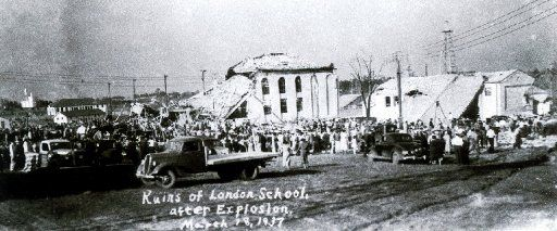 The New London School after the March 18, 1937 explosion.