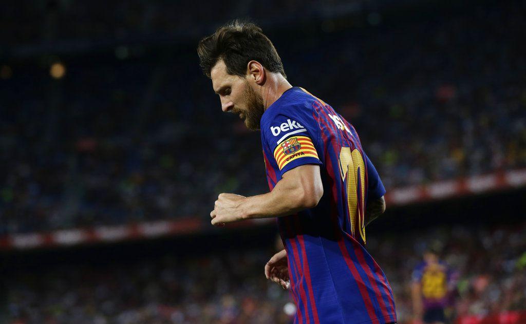 El delantero del Barcelona Lionel Messi durante el partido contra Alavés por la liga española, el sábado 18 de agosto de 2018. (AP Foto/Manu Fernández)