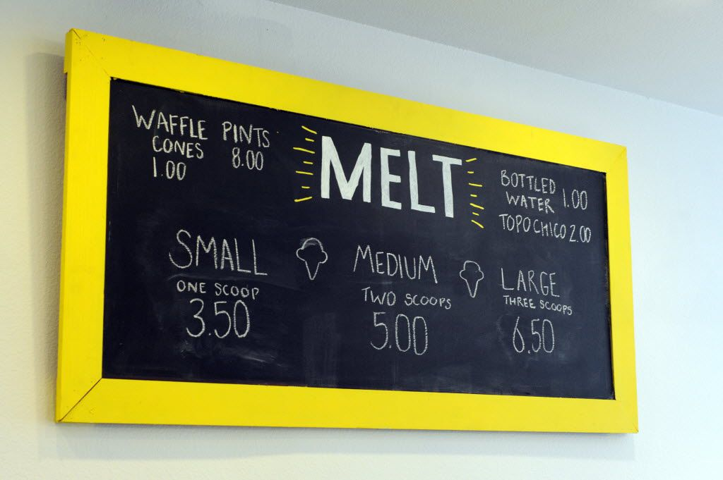 Patrons can choose from a cup, waffle cone, or pint of ice cream. The Waffle cones are made fresh daily to accompany one, two, or three scoops of ice cream.