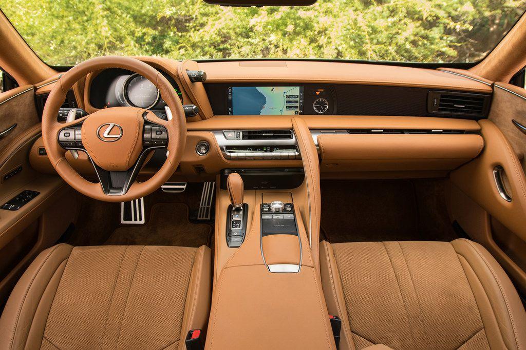 The interior has plenty of soft surfaces.