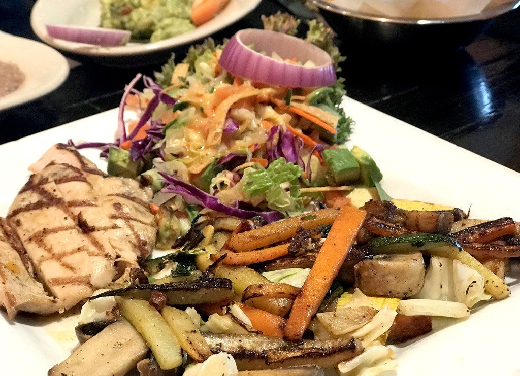 Manny's Uptown Tex-Mex has a few healthful options, like the Bob's plate.