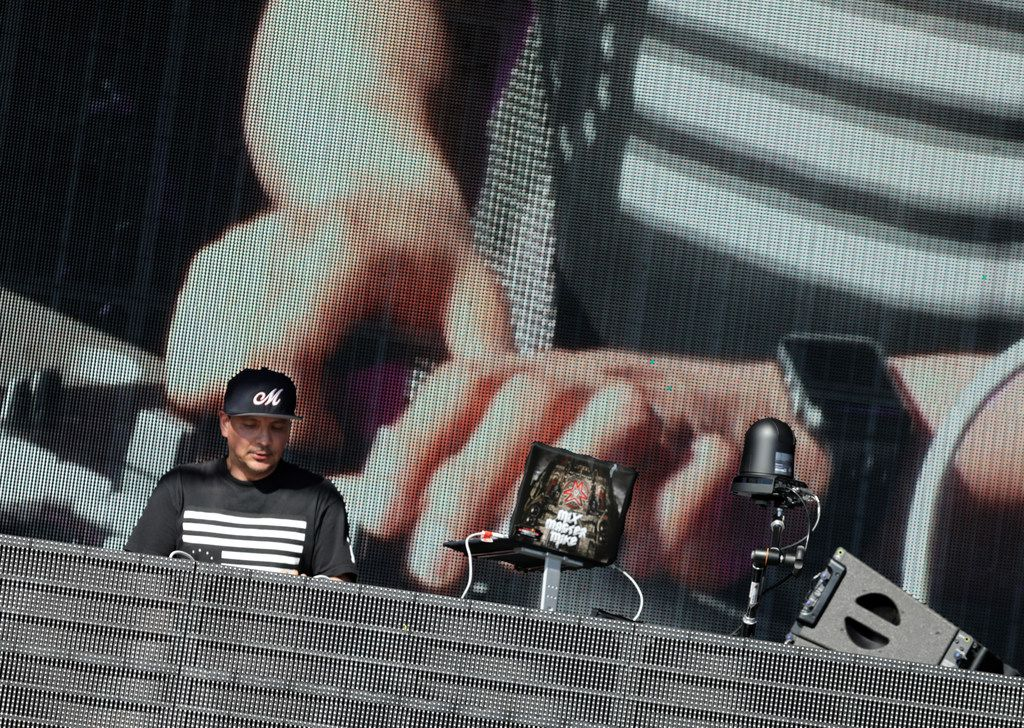 Mix Master Mike performs during Kaaboo Texas at AT&T Stadium in Arlington, TX, on May 12, 2019.
