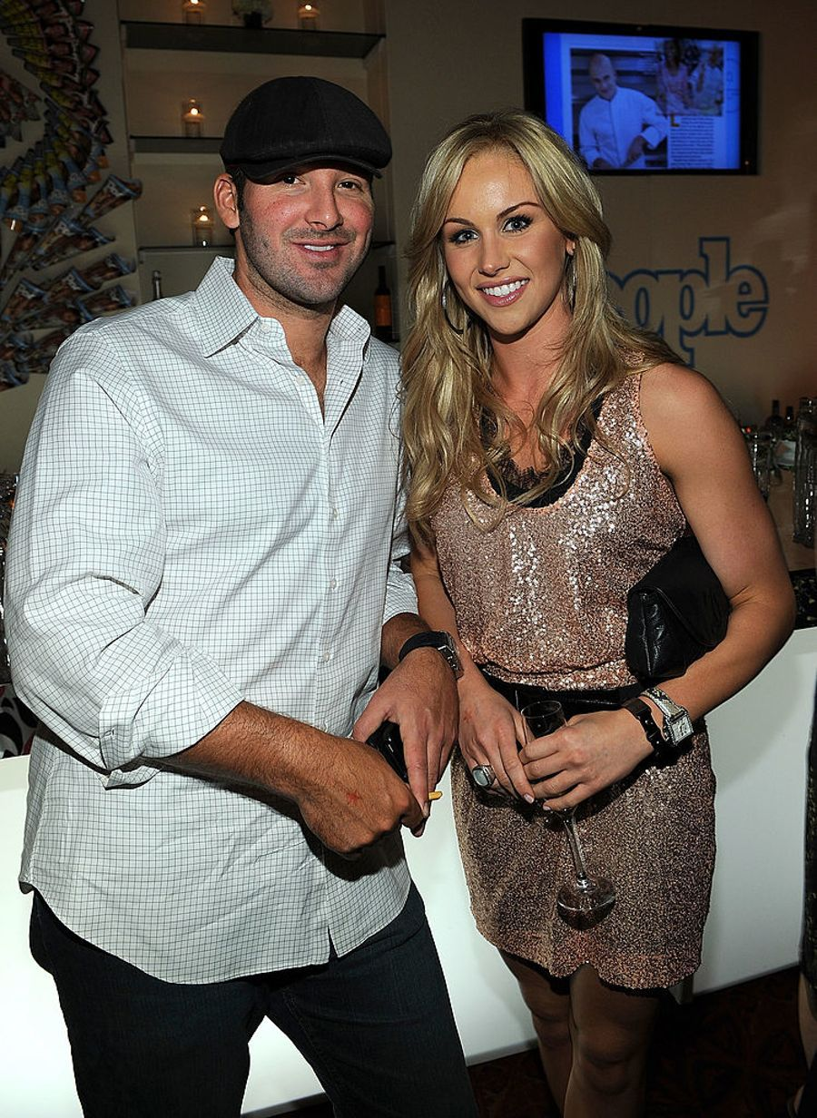 WASHINGTON - APRIL 30: NFL player Tony Romo and journalist Candice Crawford attend the PEOPLE/TIME party on the eve of the White House Correspondents' Dinner at the St Regis Hotel - Astor Terrace on April 30, 2010 in Washington, DC. (Photo by Larry Busacca/Getty Images for Time Inc)