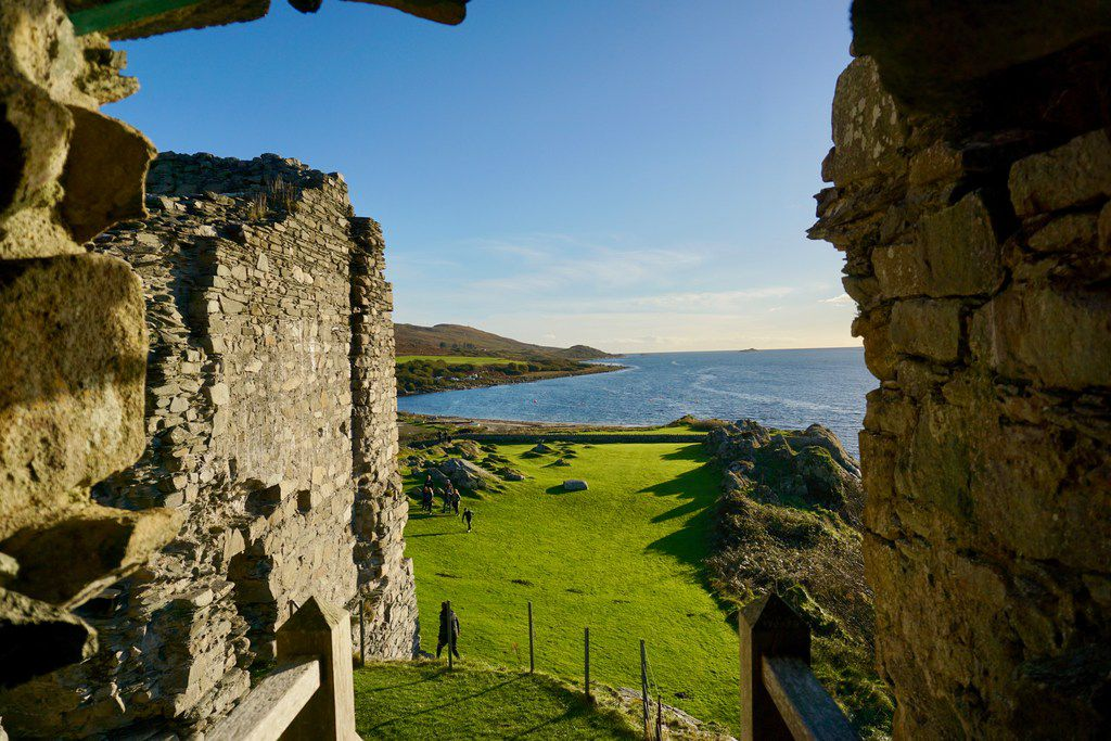 A turret in Castle Sween offers commanding views over Knapdale and the sea. The castle and its strategic location along Scotland's western seaboard are evidence of a maritime kingdom of Norse-Gaelic warriors whose story is largely lost to history.