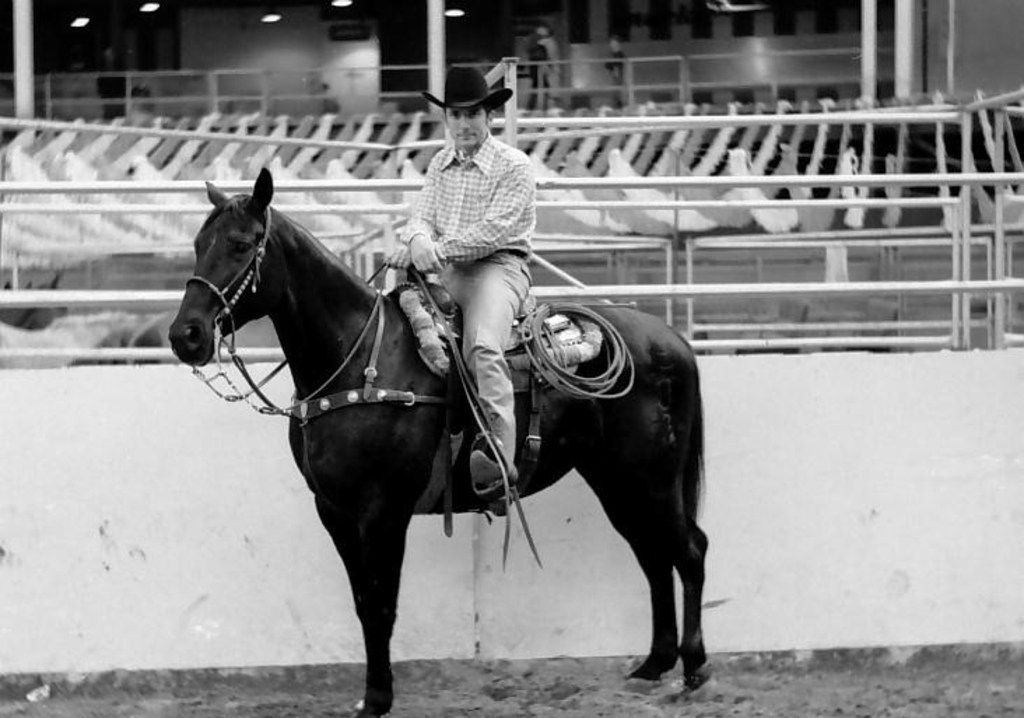 Billy Minick, pictured in an undated photo from the 1970s, raised bucking horses, saddle horses and cattle for rodeo competitions across the country.