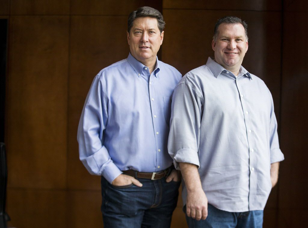 Randy DeWitt and Jack Gibbons of Front Burner Restaurants are building a three-story food hall in the Legacy West development in Plano.