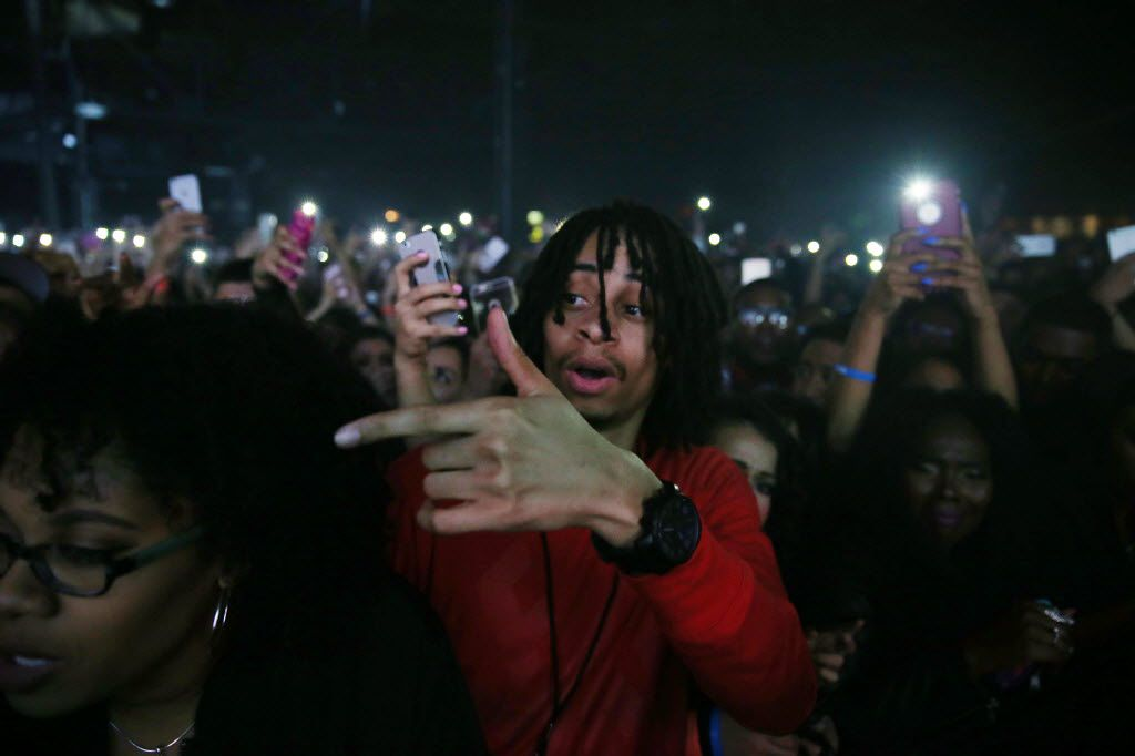 Fans watch while Future performs at South Side Ballroom in Dallas Friday March 11, 2016. (Andy Jacobsohn/The Dallas Morning News)
