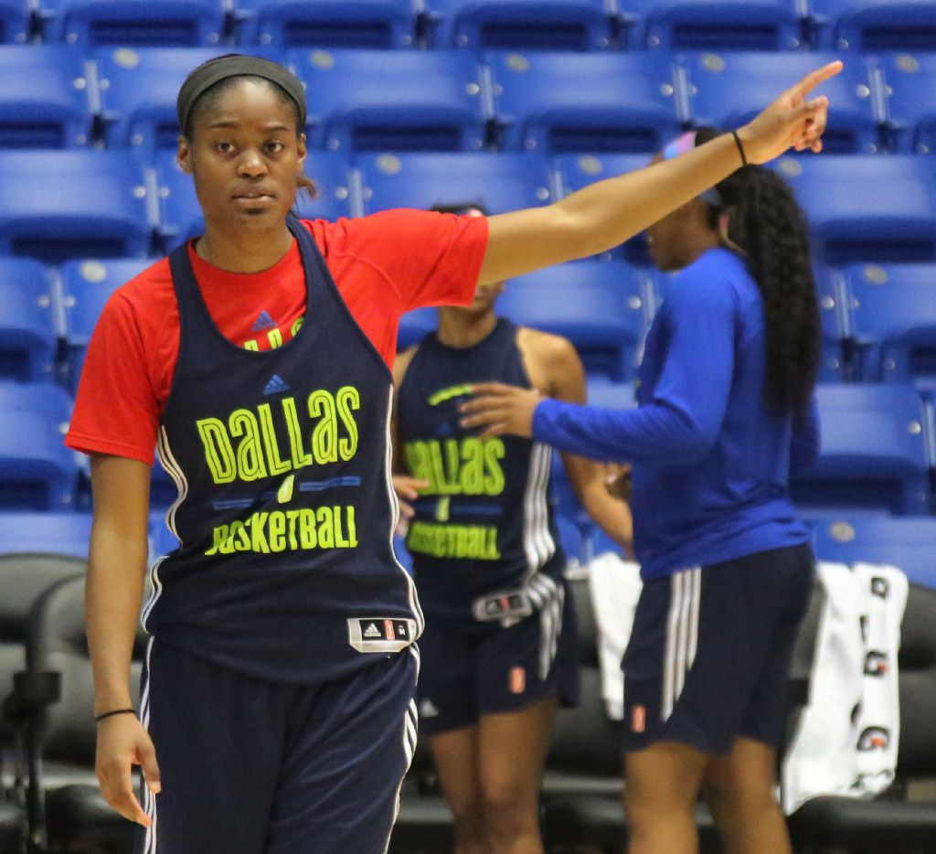 Dallas Wings guard Kaela Davis is pictured during Dallas Wings training camp at UTA's College Park Center in Arlington, Texas on Wednesday, April 26, 2017. (Louis DeLuca/The Dallas Morning News)
