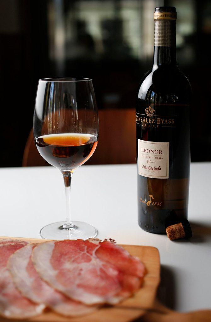 Gonzalez Byass Leonor Palo Cortado Sherry with sliced culatello
