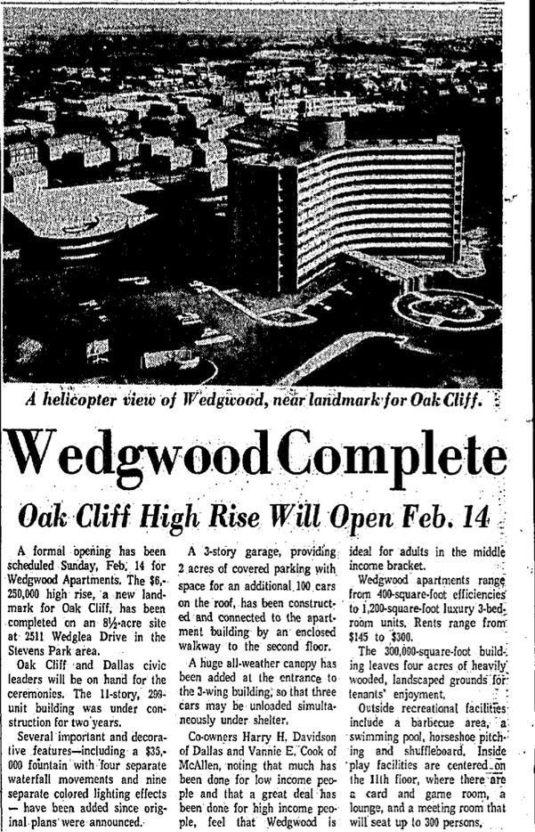 The tower opened in 1965.