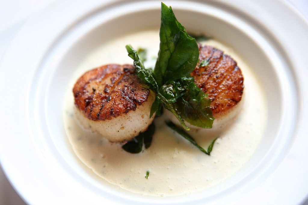 Chef Kobi Perdue's blackboard specials always include a scallop (Saint-Jacques) du jour.