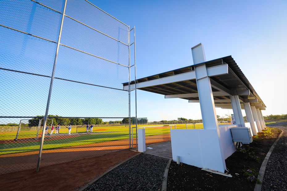 One of the fields at the Texas Rangers' new $12.5 million baseball academy located in Boca Chica, Dominican Republic. (Kelly Gavin/Texas Rangers Baseball Club)