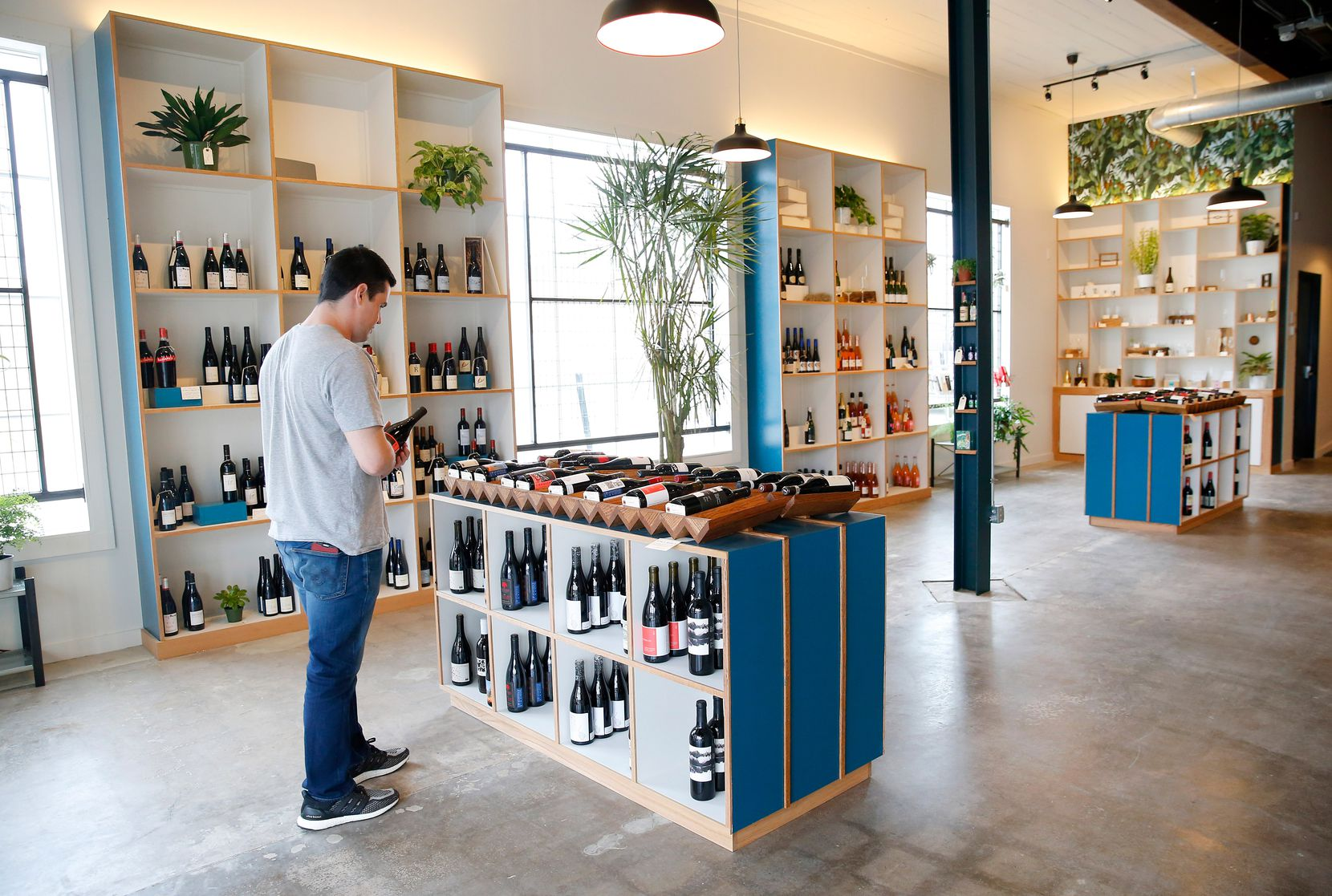 Bar and Garden, a new shop on Ross Avenue, specializes in natural wines.