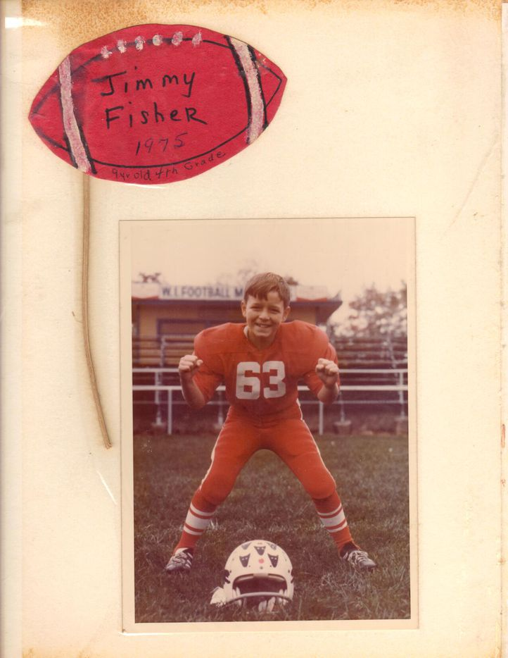 Jimbo Fisher as a Pop Warner football player.