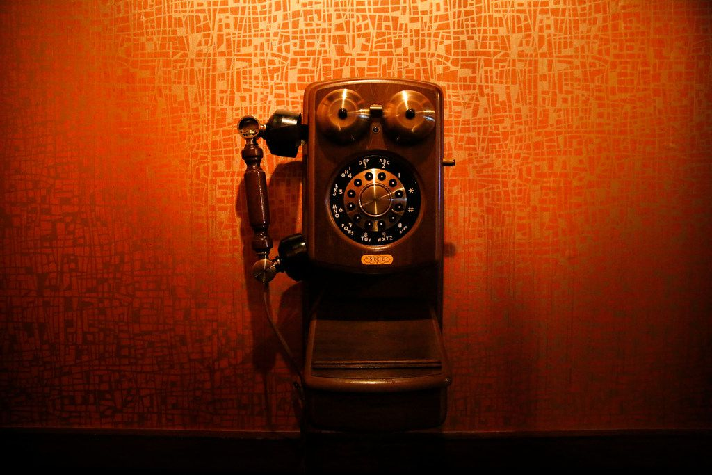 The phone used to get into The Volstead Room speakeasy in Lewisville, Texas on Friday, March 16, 2018.