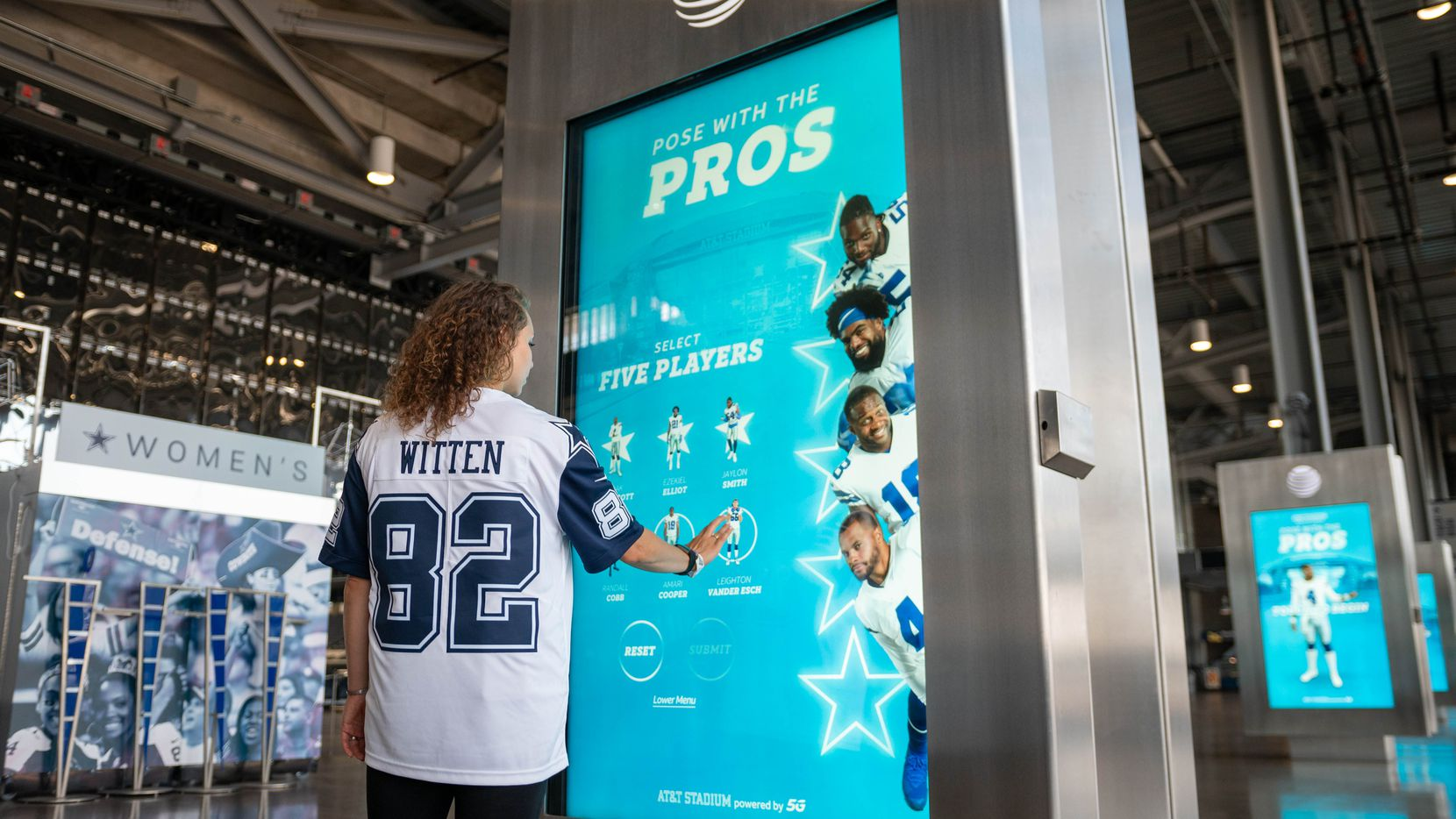 AT&T's Pose With The Pros experience at AT&T Stadium.