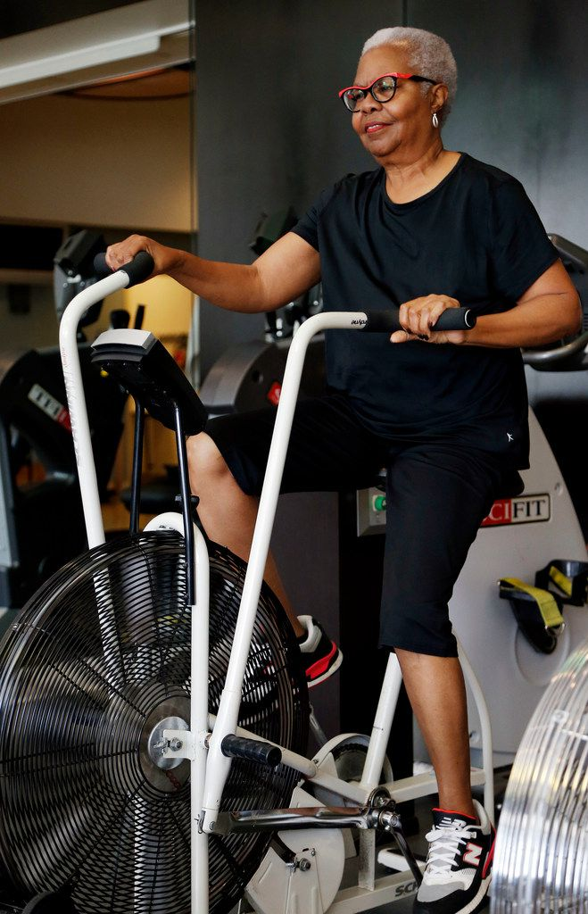 """After going through chemotherapy, says breast cancer survivor Dorothy Nelson, """"exercise helped me to feel stronger, positive, happy and hopeful."""""""