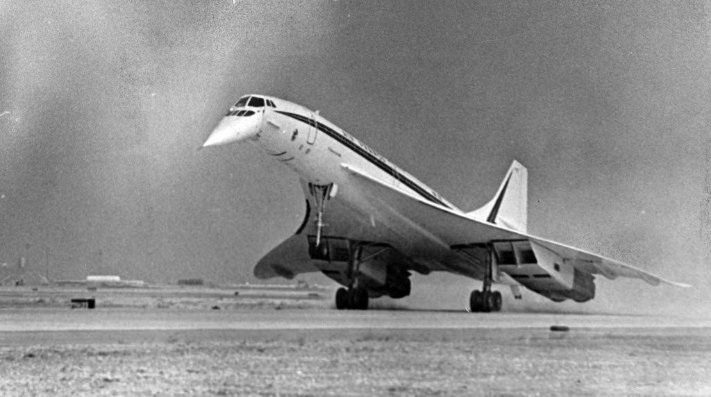 The supersonic airliner Concorde set down on American soil for the first time at Dallas-Fort Worth Airport.