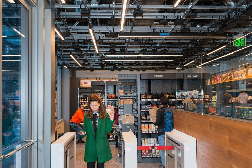 The Amazon Go store in Seattle, Sept. 19, 2018. The e-commerce giant uses its headquarters city as a living laboratory, trying out new retail and logistics models.