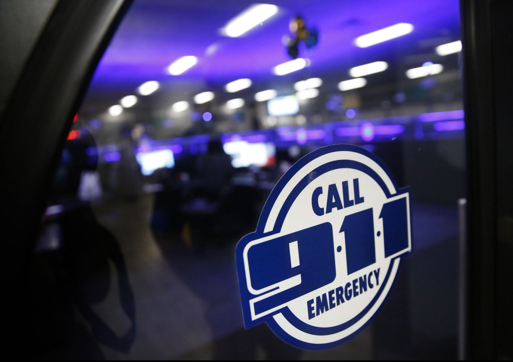 The Dallas Police 911 call center at Dallas City Hall in Dallas on Friday, May 3, 2019. (Rose Baca/Staff Photographer)