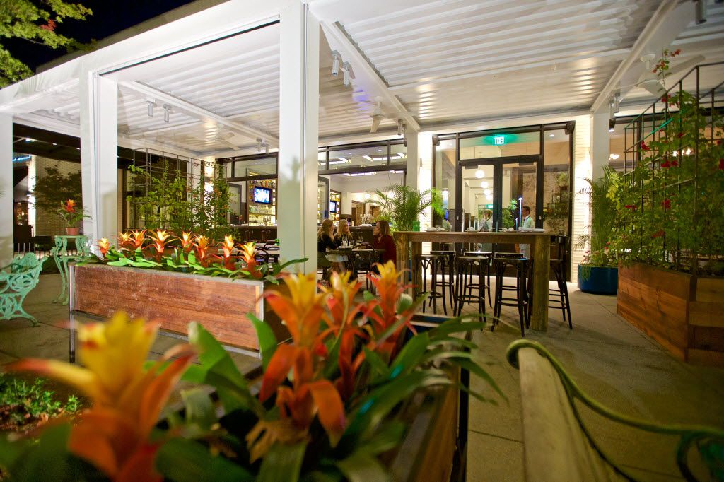 Outdoor patio dining at The Theodore in NorthPark Center, Wednesday, November 18, 2015.
