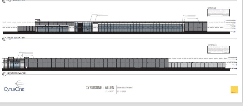 Dallas architect Corgan designed the planned CyrusOne data center in Allen.