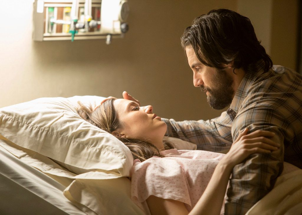 "Mandy Moore, left, and Milo Ventimiglia star in ""This Is Us."" The season finale for the popular  time-twisting family drama will air Tuesday at 8 p.m."