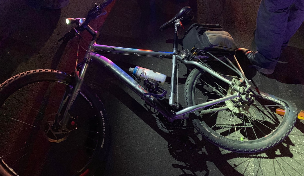A driver struck a uniformed Arlington bicycle officer outside AT&T Stadium early Sunday, injuring the officer and damaging the bicycle, police say.