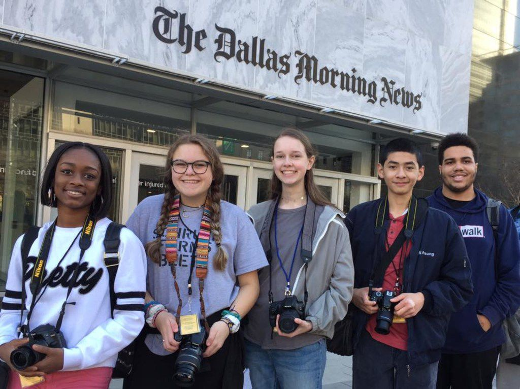 High school students have participated in the Visual Storytelling Workshop hosted by Storytellers Without Borders and The Dallas Morning News.