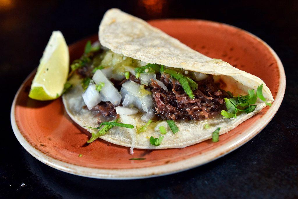 Barbacoa taco from Ruins bar at Deep Ellum
