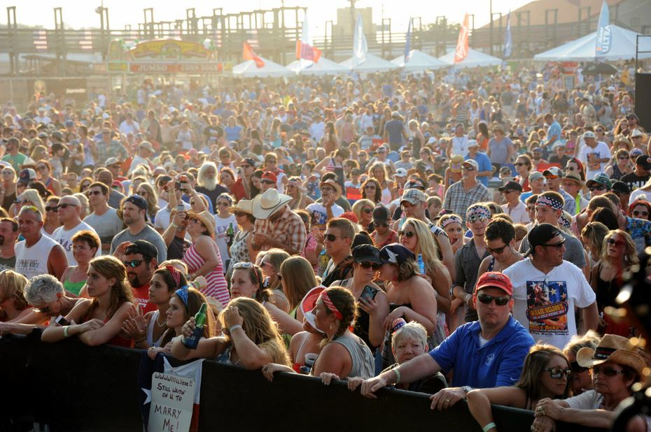 Wow: A lot of people showed up in 2014 when Josh Abbott Band played Willie Nelson's 4th of July Picnic in Fort Worth.