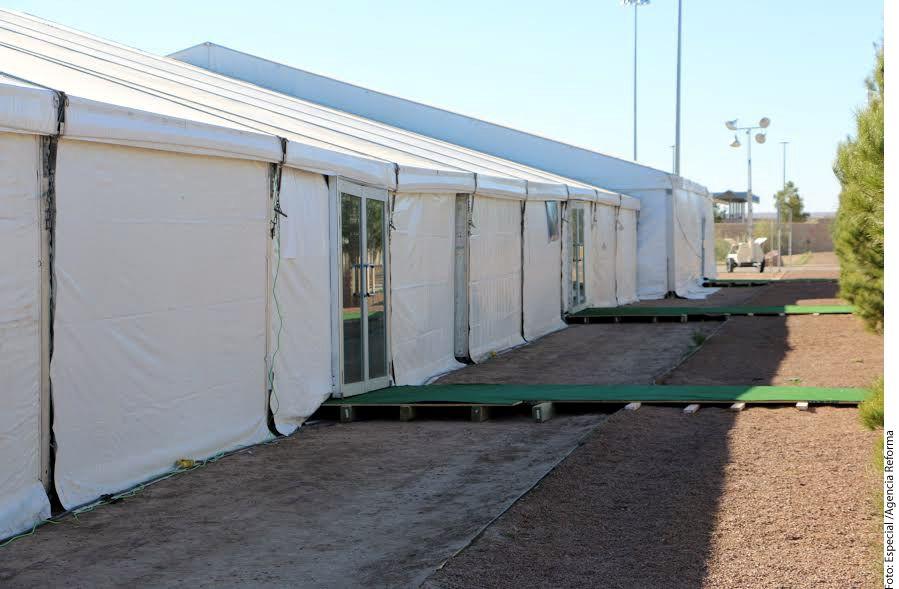 El Gobierno de Estados Unidos instaló un centro de detención temporal en el puente internacional de Tornillo-Guadalupe, al oeste de Texas, con una capacidad inicial para 500 migrantes indocumentados.