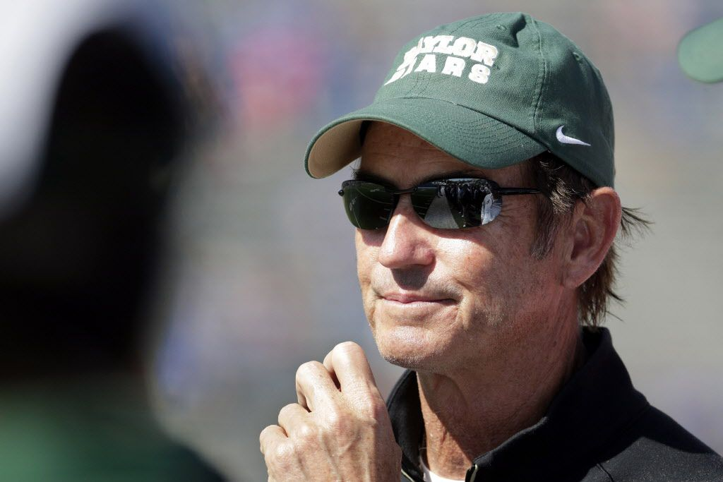 Former Baylor Bears football coach Art Briles watched his former team play Rice Friday night in Houston