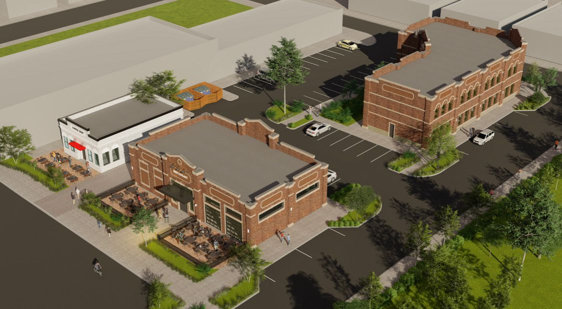 Nack Development plans to build three small retail and office buildings in Lewisville's old downtown area.