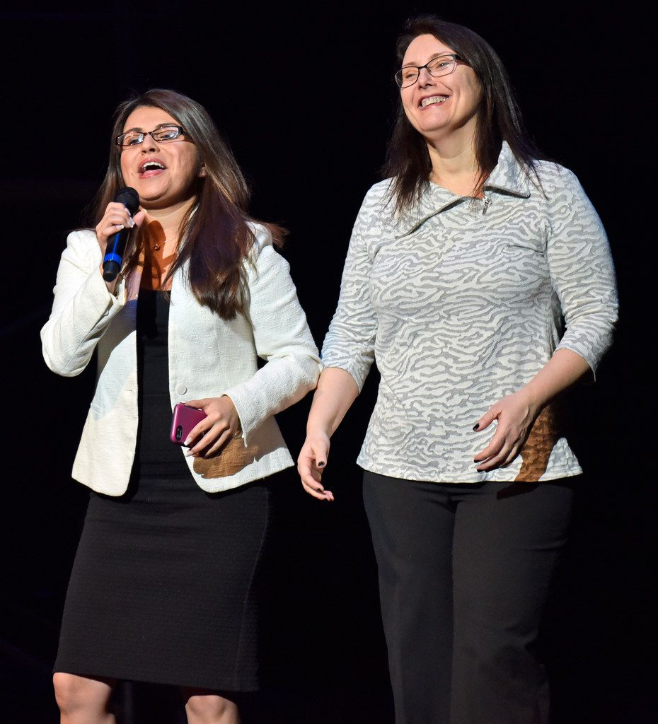 Rosaura Cruz (left, is executive director of Junior Players and producer of Green Day's 'American Idiot,' and Valerie Hauss-Smith is the director.