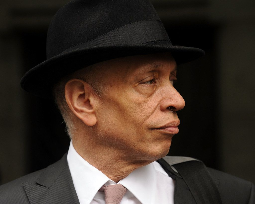 Author Walter Mosley at the funeral service of singer/actress Lena Horne in New York in May 2010.