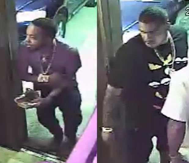 These two men were identified as suspects in the shooting.