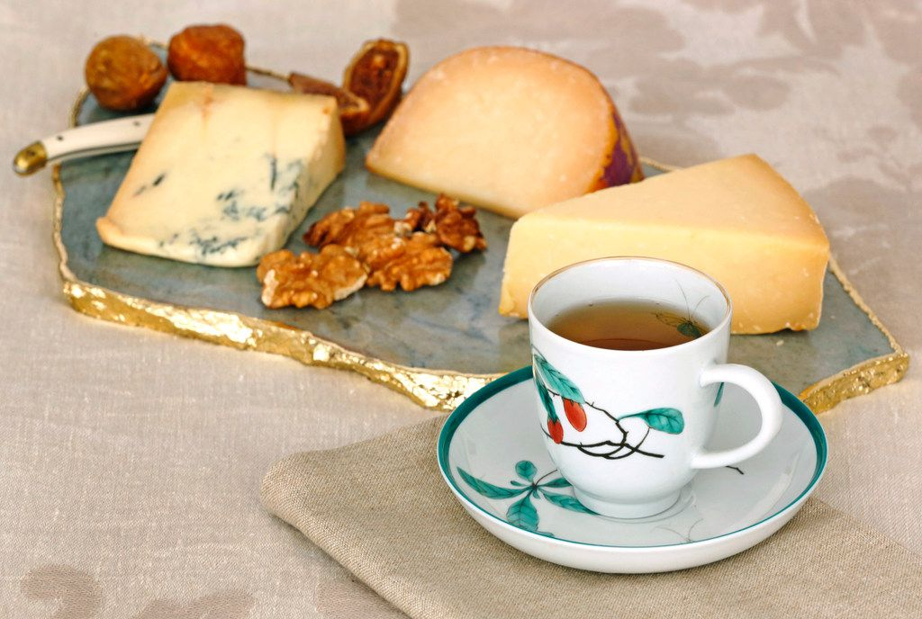 Black tea pairs well with aged cheeses.